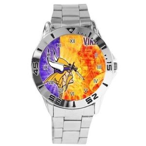 Minnesota Vikings Stainless Steel Dress Watch NWT